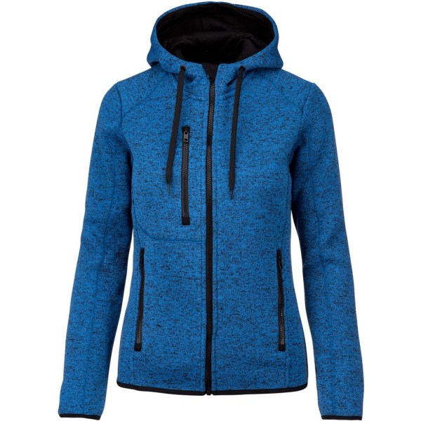 Proact Dam / Dam Heather Hooded Jacket XL Ljus Kungsblå M