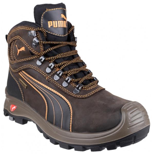 Puma Safety Sierra Nevada Mid Säkerhetsskor för män 42 EUR Brun Brown 42 EUR