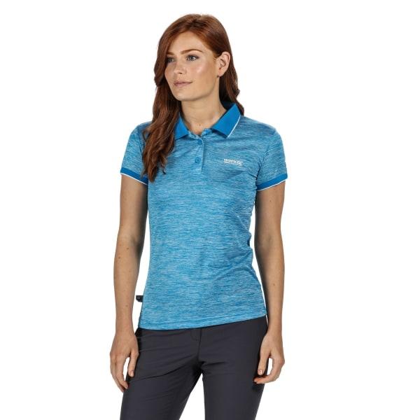 Regatta Remex II Polo Neck T-shirt dam / dam 20 UK Blue Aste