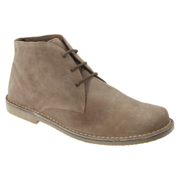 Roamers Mens Real Suede Fulfit Desert Boots 11 UK Sand Sand 11 UK