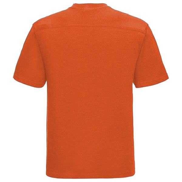 Russell Europe Arbetskläder Herr Kortärmad T-shirt Bomull XL Oran Orange XL