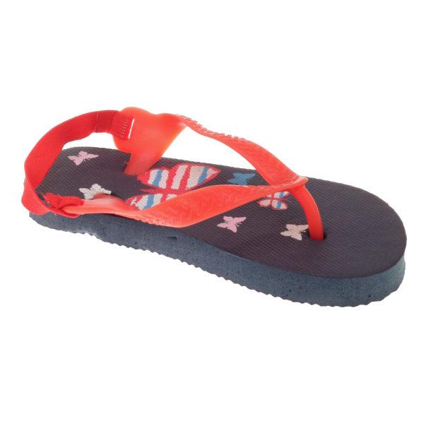 Sandrocks barn / småbarn fjäril flip flops 6/7 Child UK Mörkblå