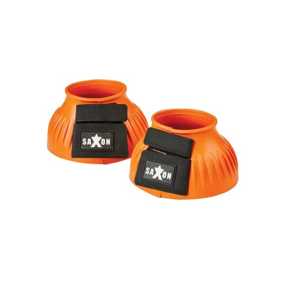 Saxon Ribbed Touch Tape Bell Boots Pony Orange