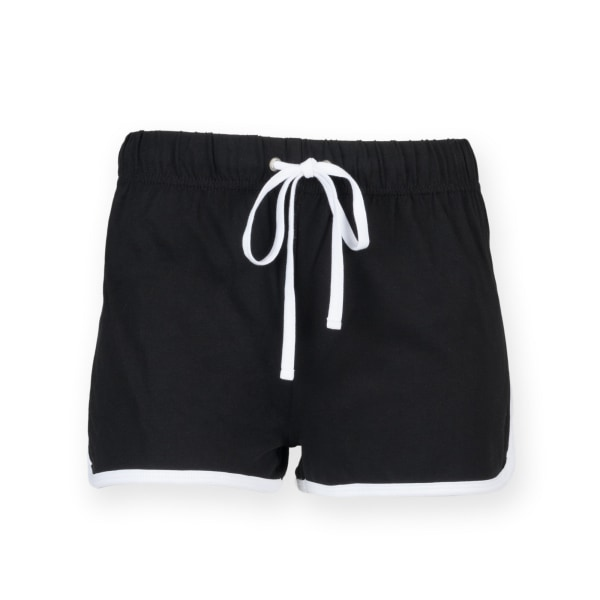 Skinni Minni Retro-shorts för barn / barn 7-8 Years Svart vit Black / White 7-8 Years