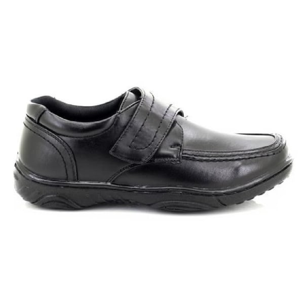 Smart Uns Mens Touch Fastening Casual Shoes 6 UK Black Black 6 UK