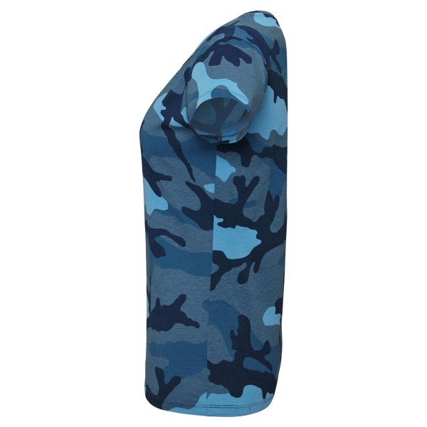 SOLS Kvinnors / damer camo kortärmad T-shirt XL blå camo