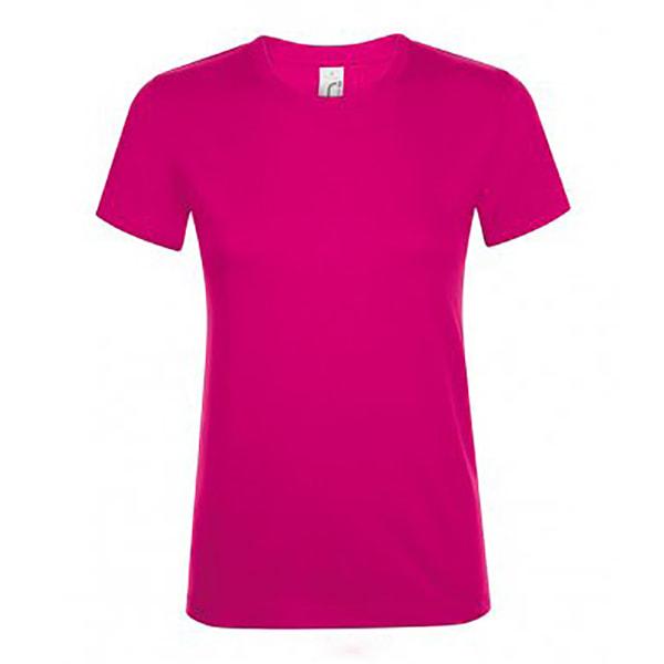 SOLS Kvinnor / damer Regent kortärmad T-shirt XL Fuchsia Fuchsia XL