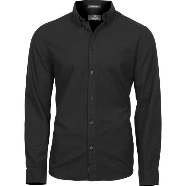 Tee Jays Mens Urban Långärmad Oxfordskjorta 3XL Svart Black 3XL