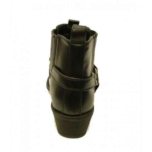 US Brass Mens Eastwood Cowboy Ankle Boots 8 UK Svart Black 8 UK