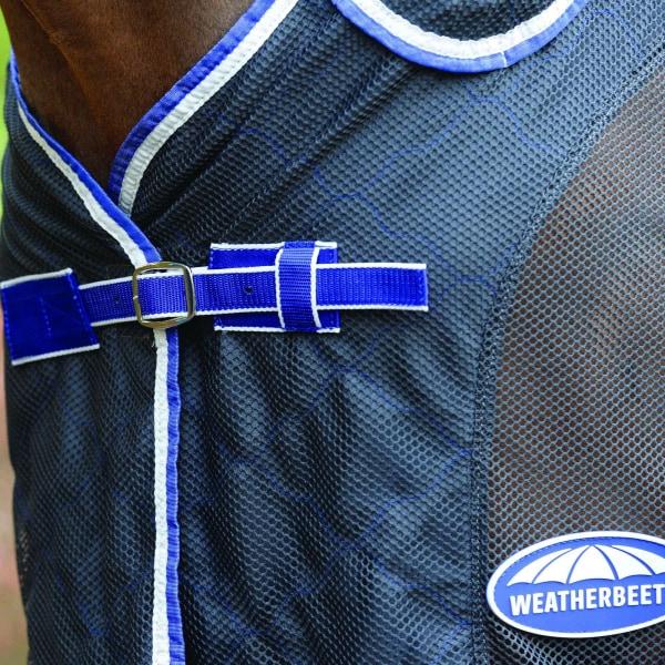 Weatherbeeta Wick Dri II Combo Neck Cooler Rug 6ft Charcoal / Blue