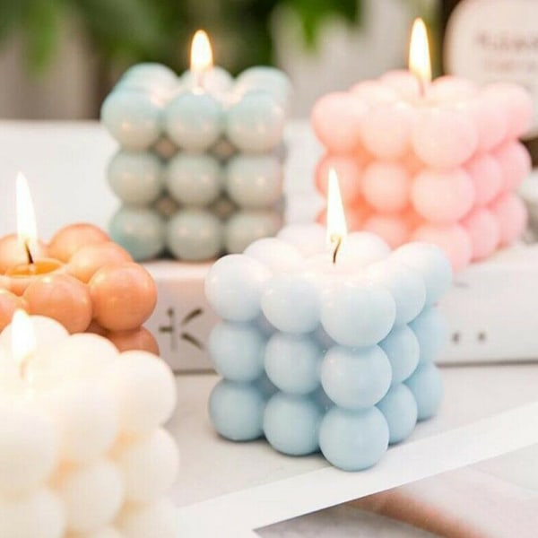 DIY Sillicone Candles Mould 3D Crafts Ornament Mold Lighting 9 Balls