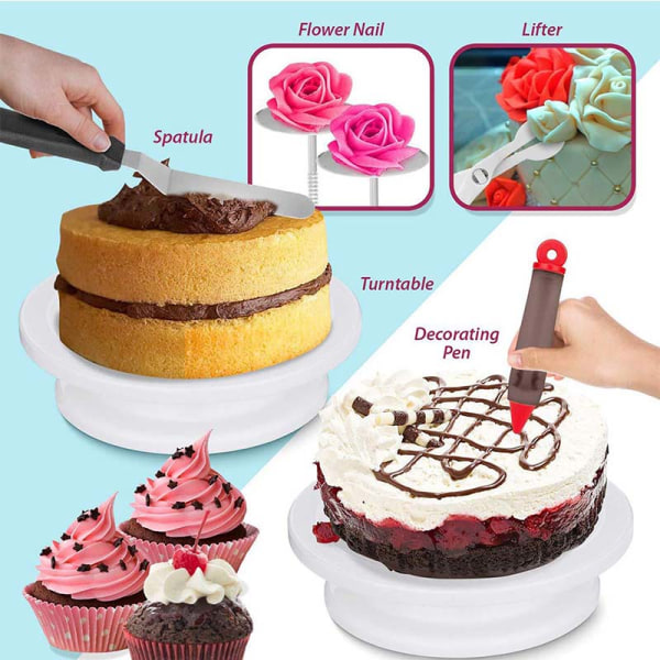 164-bitar tårta skivspelare uppsättning _ bakverk dekoration verktyg DIY _ 16