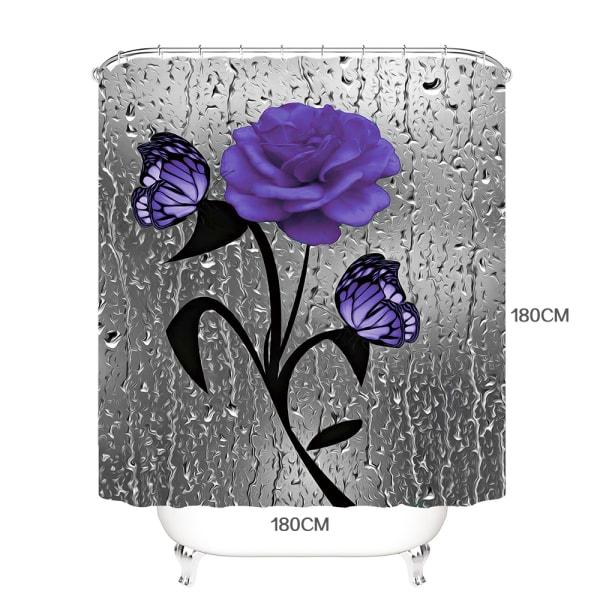 3d vattentätt badrumsgardintryck partition gardin B 180*180 cm