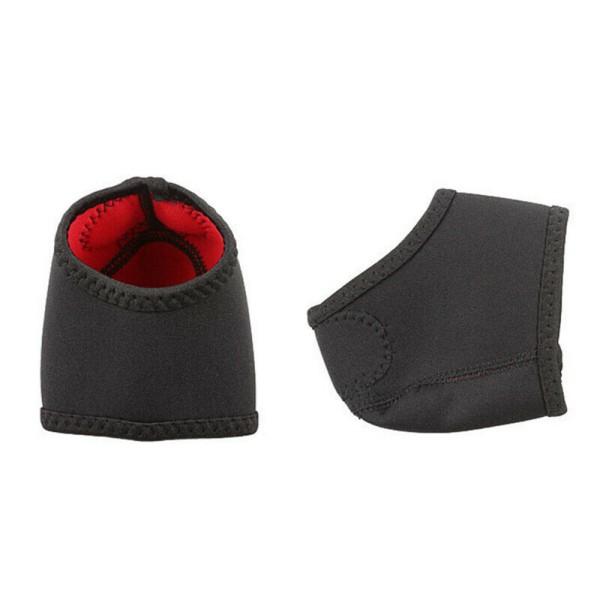 Plantar Socks Foot Heel Ankle Wrap Pad Smärtlindring black S