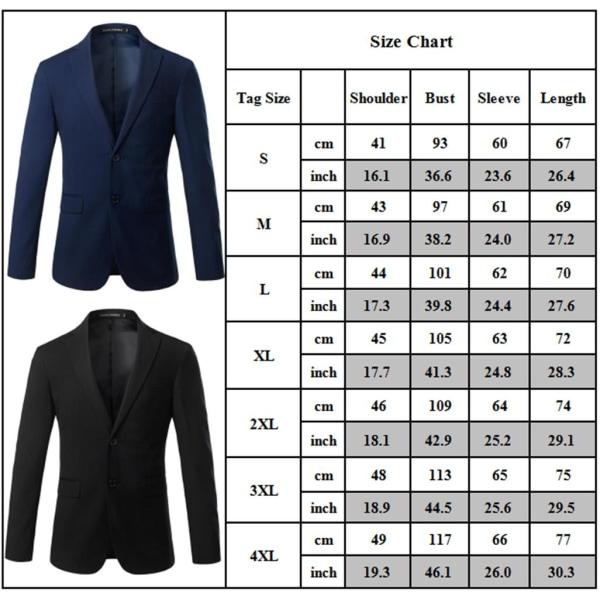 Herrrock Fritid Knapp-Front Stand-Collar Blazer Formell kostym Gray 3XL
