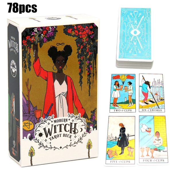 78 Modern Witch Tarot Cards spel Tarotkort Deck All Female Rider