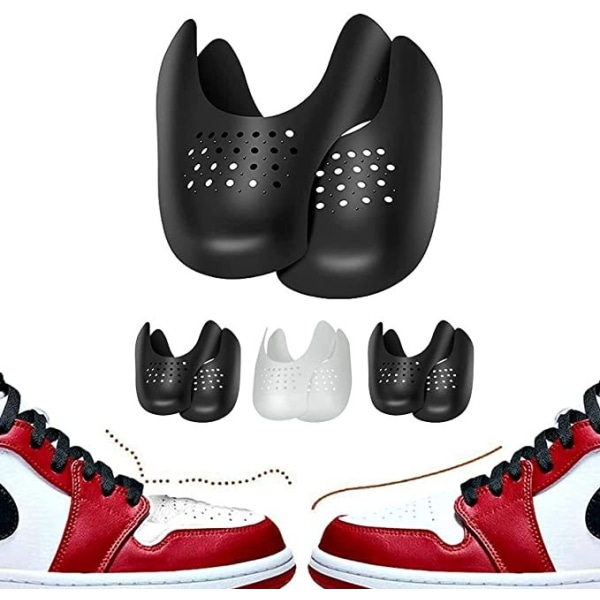 1 par sneakersköld rynkskydd fot Arch Cover skydda black 40-46