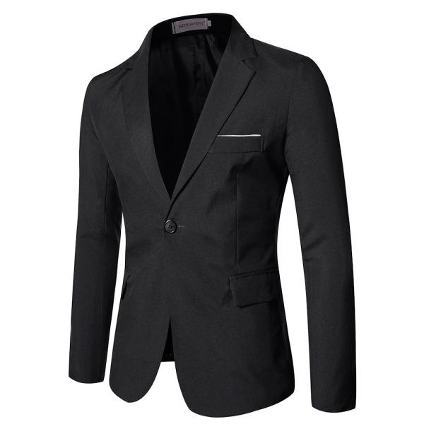 Herrjacka Business Formell bröllopsfest Blazers Prom Coat Black 4XL