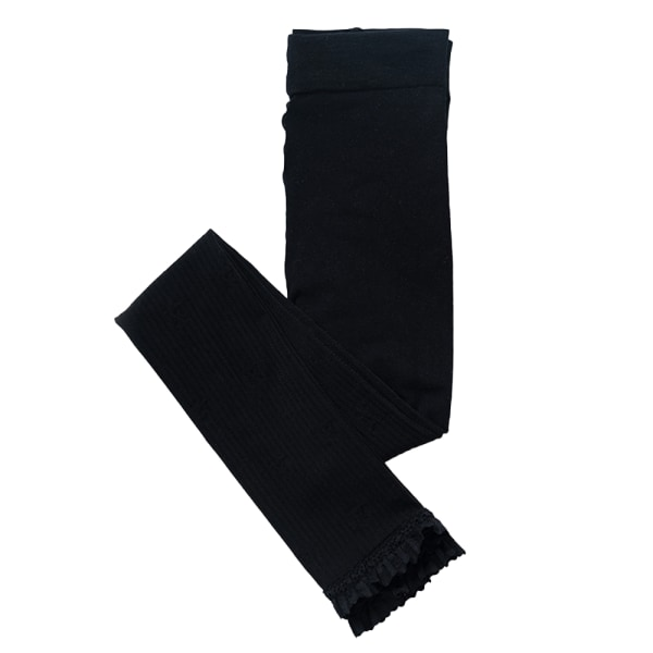 Barn flickor casual spets mesh bekväma långa strumpbyxor black L