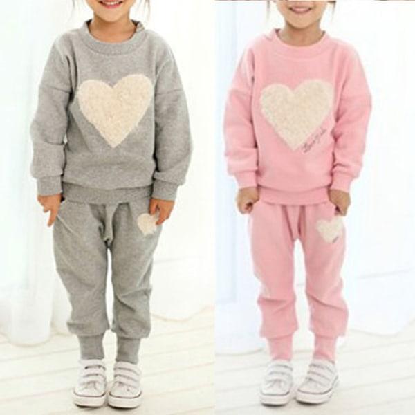 Barns sportkläder _ fritidskläder _ byxor pink 3-4Years