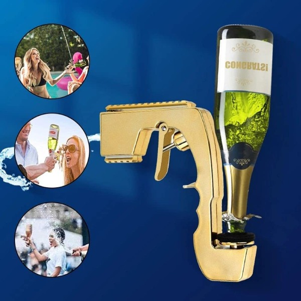 Champagne Beer Ejector Party Celebrat Vinfartyg Dispenser Golden