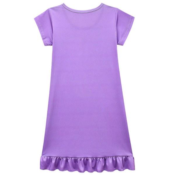 Flicka sommar Raya och The Last Dragon klänning med korta ärmar Blue 6-7Years