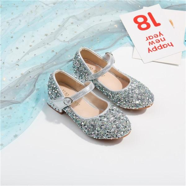 Flickaskor kristallskor visar prinsessanskor små läderskor Pink 27