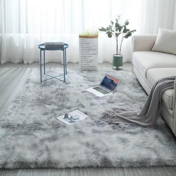 Fluffig sovrumsmatta och fluffigt vardagsrumsmattadekoration Water Gray 50*80 cm