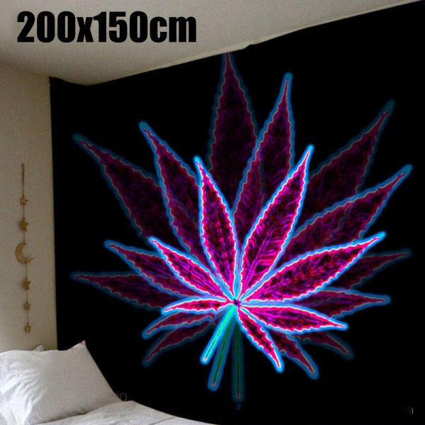 Hippie Trippy Tapestry Wall Hanging Blanket Home Bedroom Decor B 200x150cm