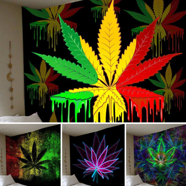 Hippie Trippy Tapestry Wall Hanging Blanket Home Bedroom Decor D 200x150cm