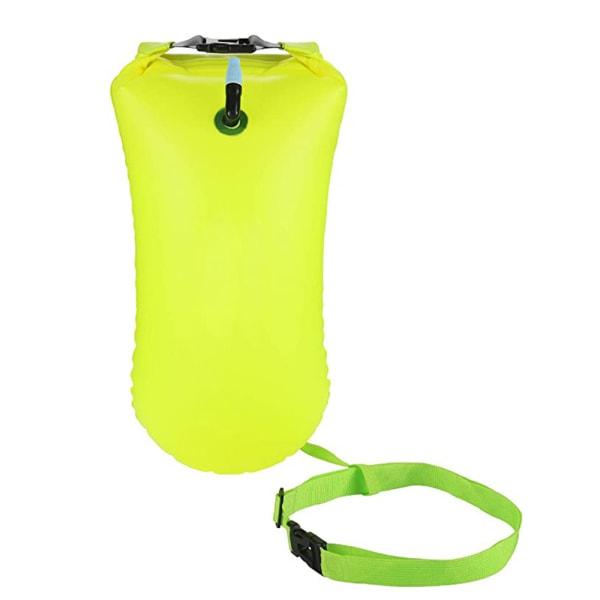 Uppblåsbar simning säkerhet vattentät airbag öppet vatten Green
