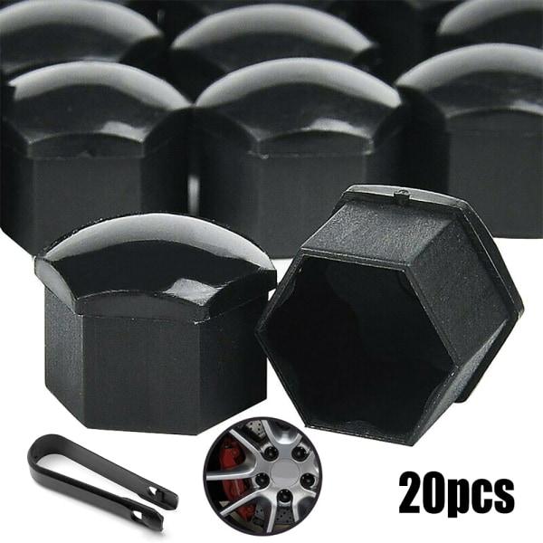 Förpackning med 20 muttrar - hjul - bilnavskruvar - stöldskydd