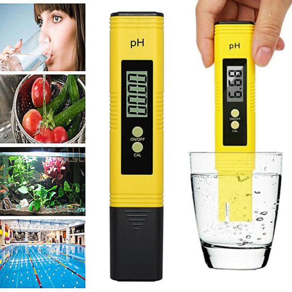 Portable Water Tester Digital Water PH Meter Tester Pen storlek