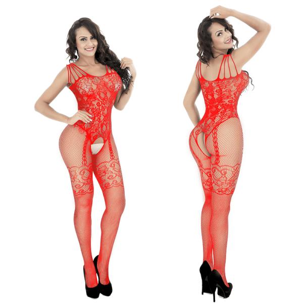 sexiga underkläder _ en kostym i ett stycke för en kvinnas sexiga frestelse Red