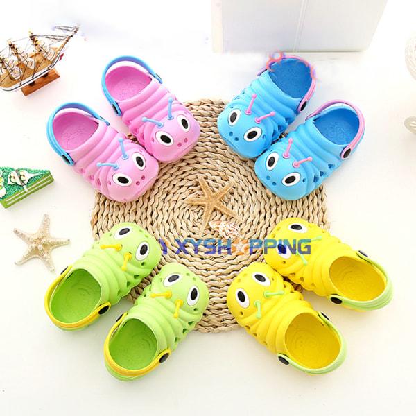 Småbarns sommarhålskor, halkfria sandaler för småbarn yellow 23