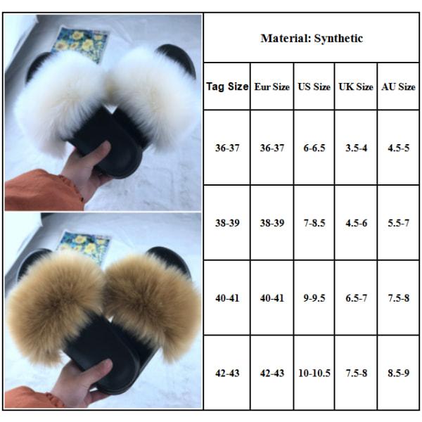 Tofflor för päls inomhus och utomhus, slitstarka black 40-41cm