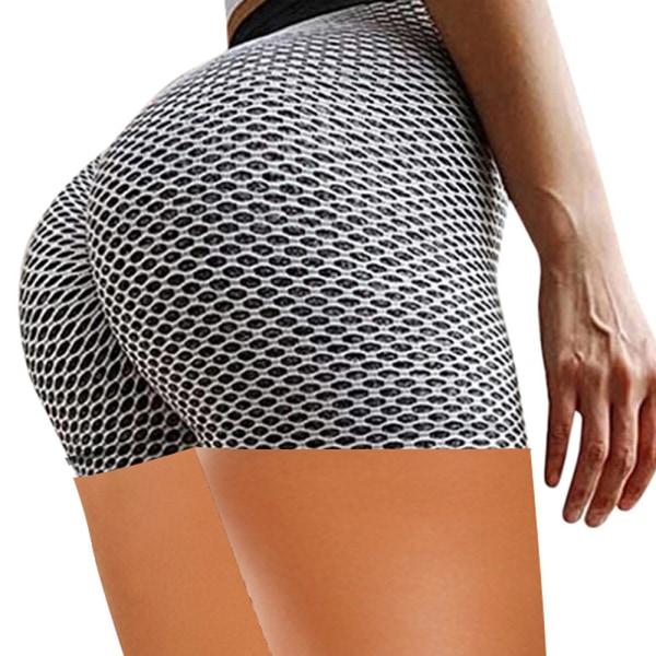 Yoga Hips Textured Tights Dam Workout Ripple Shorts grey 2XL