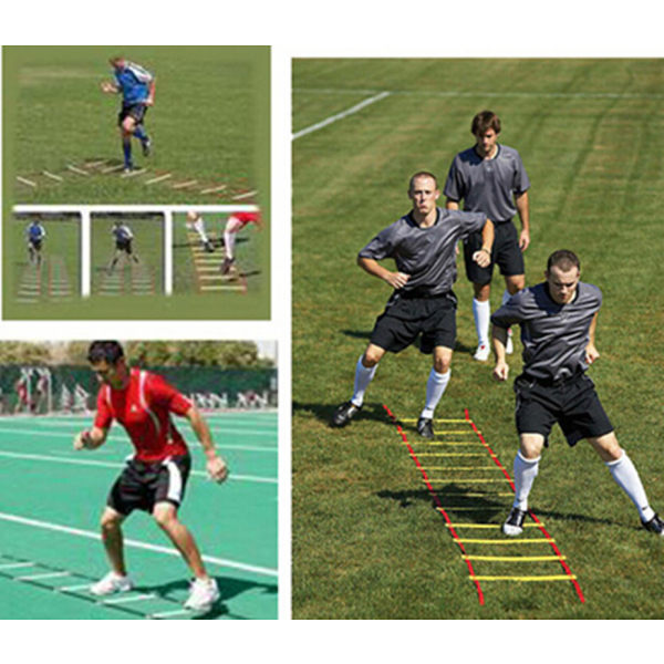 13 Step Speed Agility Ladder Fotboll Speed Fitness Blue