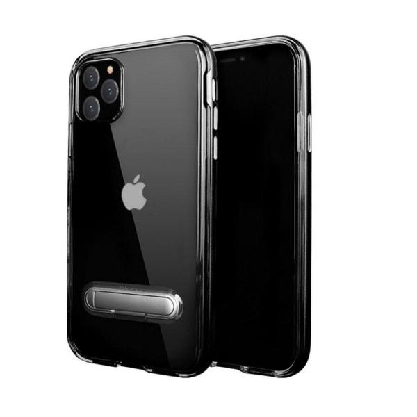 TPU -etui med telefonholder + to skærmbeskyttere iPhone 11 Black