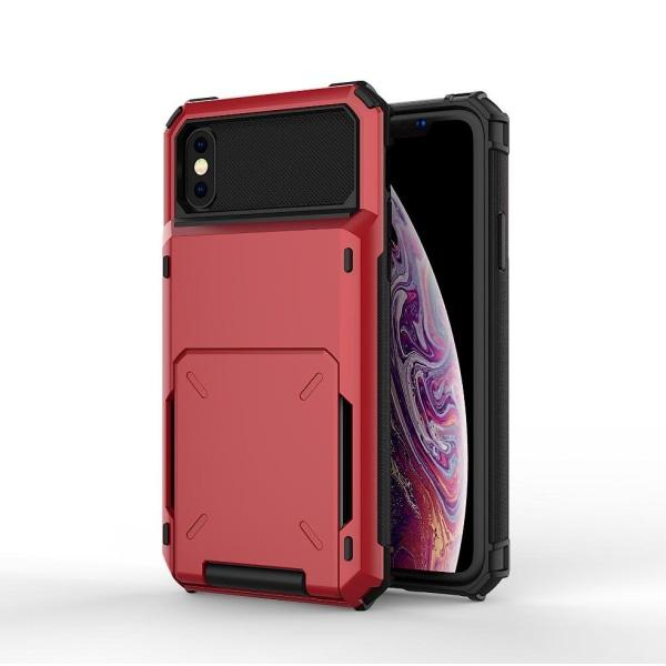 Case ja kestävä cover iPhone 7+/8+ -puhelimelle Red