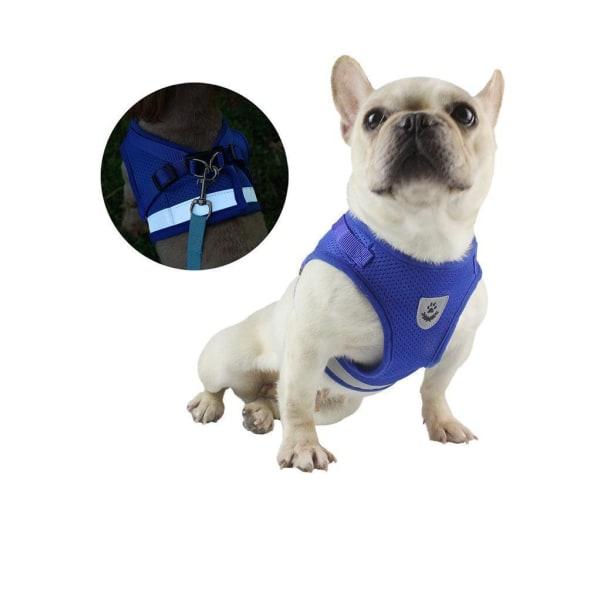 Hundsele med koppel och reflex Blue S