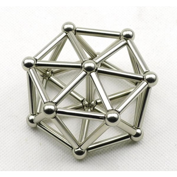 Neodomin magnetpaket - 63 delar Silver