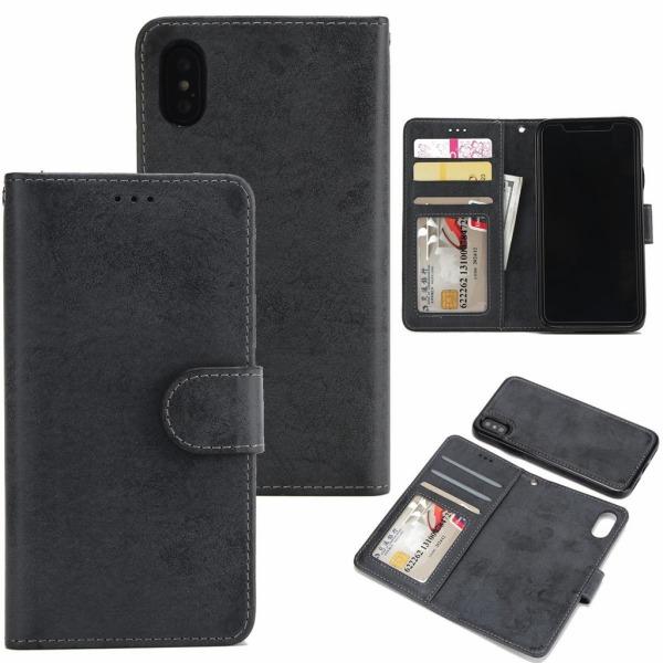 Suede magnetfodral för iPhone XR med magnetlås. Svart one size