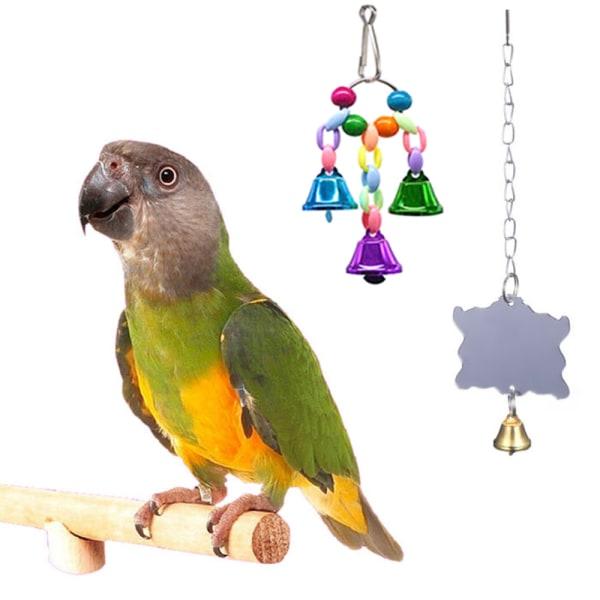 10 st papegoja leksaker stege burar undulat bur fågel leksaksuppsättning 10pcs