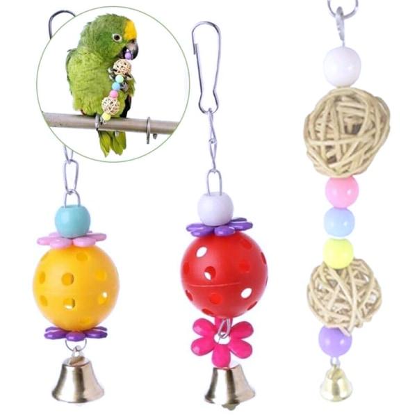 12 st Papegojeleksaker Gungleksaker Hängande Cage Bird Toy Set 12pcs