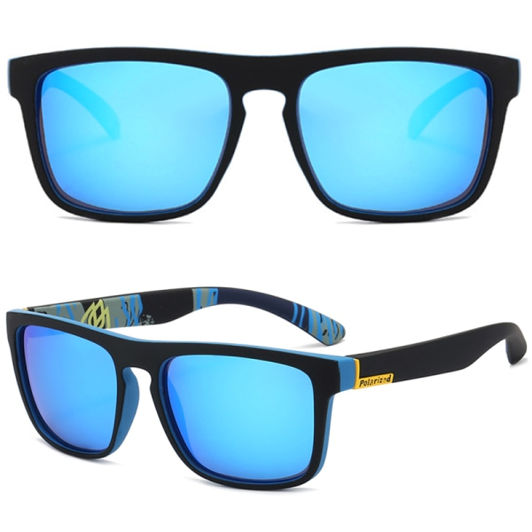 3 par fyrkantiga solglasögon herr solglasögon utomhusglasögon Blue Frame Blue Lenses 3pair