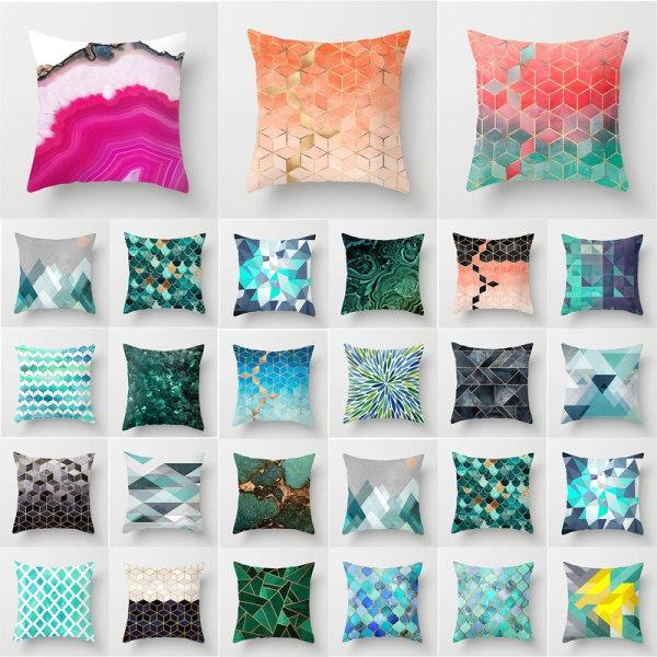 """18 * 18 """"blommigt kuddfodral soffa fyrkantigt kuddfodral säng dekor multicolor 20"""