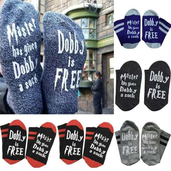 Kvinnors Harry Potter Dobby Socks Sport Outdoor Socks Gift dark grey