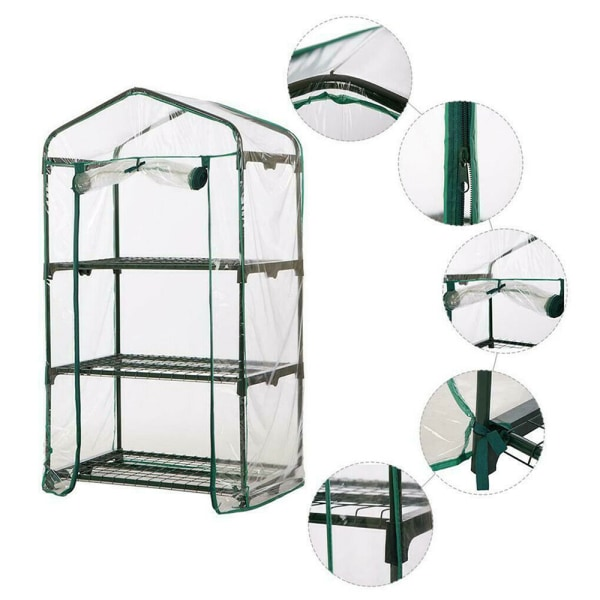 2/3/4/5 Lager Mini Greenhouse Outdoor PVC-skydd 4 Layer