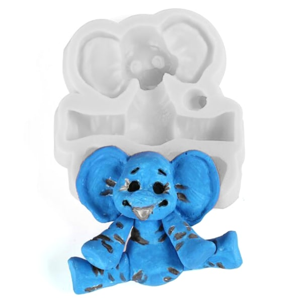 3D elefant silikon fondant mögel djur DIY mögel choklad